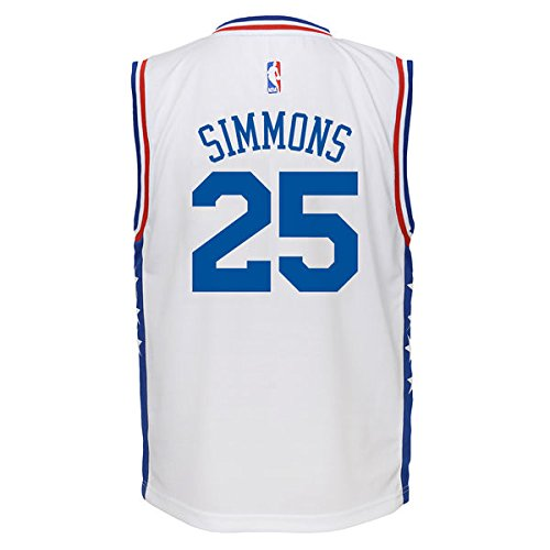Reebok Div. / Outerstuff Youth Simmons White Sixers Jersey White YXL