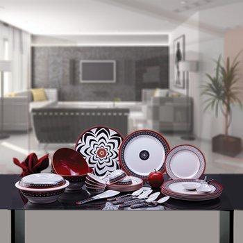 Superware Ektra Melamine Bidri Design Dinner Set 32 Pcs