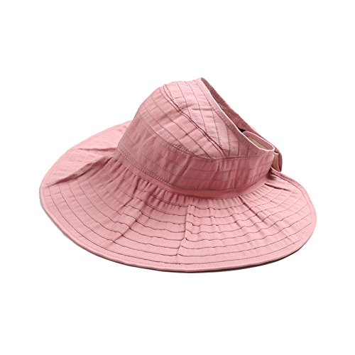 bounnty New Women's Large Big Brim Anti-UV Beach Hat Foldable Summer Sun (Pink Cookie Monster Costume)