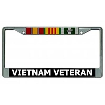 Vietnam Veteran Chrome License Plate Frame: Automotive