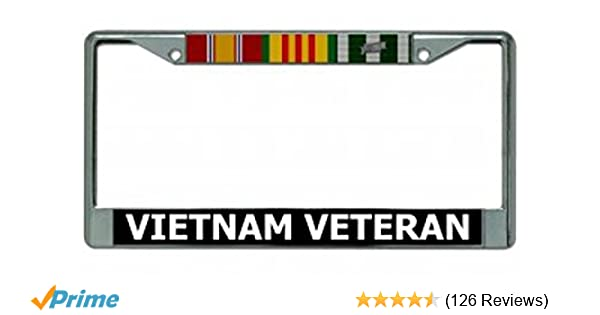 Chrome License Plate Frame United States Army Called To Duty Auto Military