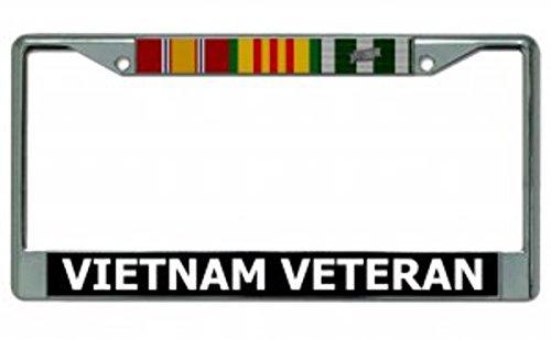 Vietnam Veteran Chrome License Plate Frame