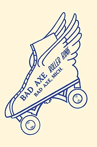 Stickers were issued by roller rinks across the United States Many were stock designs imprinted with the local skating facility This was for the Bad Axe Roller Rink in Bad Axe Michigan Poster Print (Poster Roller Skating)