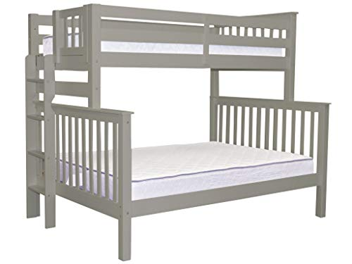 (Bedz King Bunk Beds Twin over Full Mission Style with End Ladder,)