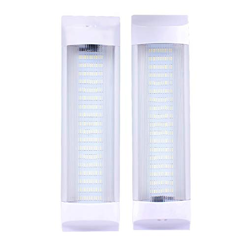 72 LEDs 11 inches Car Interior Led Light Bar White Light Tube with On/Off Switch for Car Van Truck RV Camper Boat Work as Map Light Dome Light Trunk or Cargo Area Light Rear Room Light, Pair of 2 (Bright Light Switch On Floor Of Car)