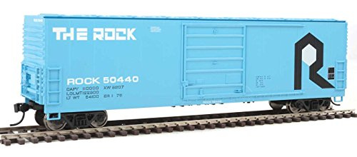Rock Island Boxcar - 50' Evans Smooth-Side Boxcar - Ready to Run -- Rock Island #50440 (blue, black, white)