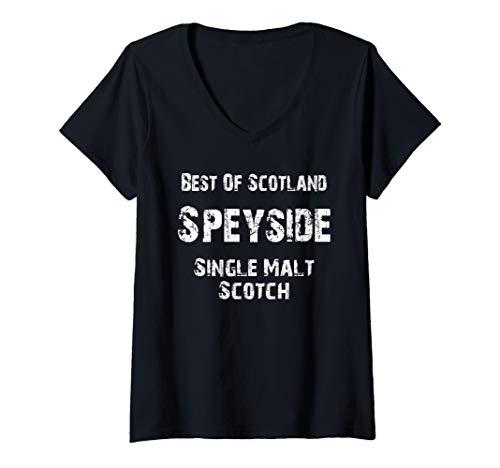 Womens  Scotland Speyside Single Malt Lovers Scotch Whiskey V-Neck T-Shirt (Best Speyside Single Malt)