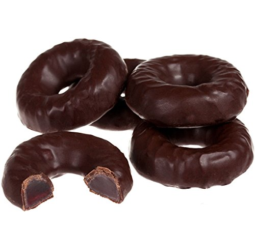 SweetGourmet Joyva Chocolate Covered Raspberry Jelly Rings, 16 -