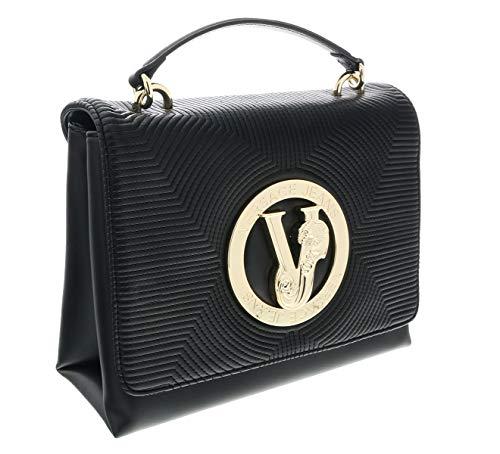 Versace Leather Shoulder Bag - Versace Black Shoulder Bag-EE1VTBBM3 E899 for Womens