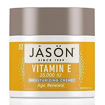 Jason Moisturizing Creme Vitamin E Age Renewal Fragrance Free - 25000 Iu - 4 Oz eos Smooth Lip Balm Sphere, Honeysuckle Honeydew 0.25 oz (Pack of 5)