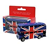 Die Cast Metal London Bus Union Jack Pencil Sharpener