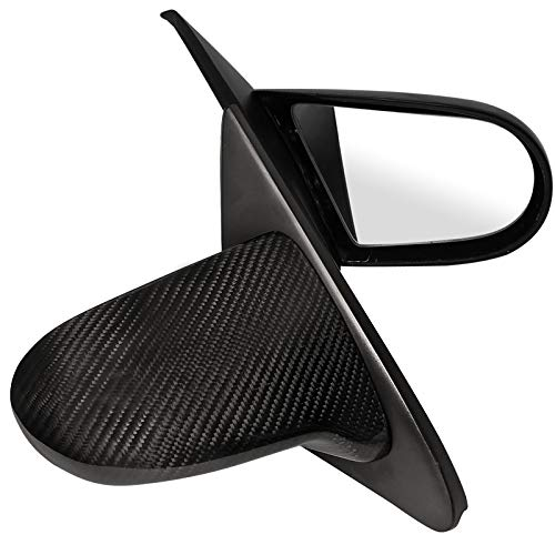 Spec-D Tuning RMS-CV923CF-M Honda Civic Ex Dx Lx 2 3 Door Carbon Fiber Manual Spoon Side Mirrors