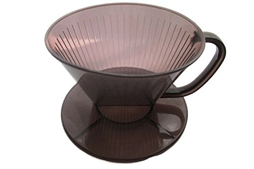 Plastic Coffee Maker Filter Cone,Plastic Coffee Dripper, size 9.5 CM, Dark Brown