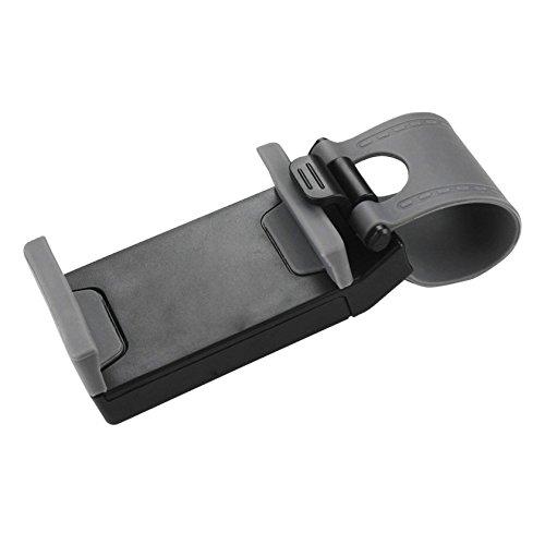 Reiko Car Steering Wheel Phone Mount -  Retail Packaging  -  Gray - HLD07-GY