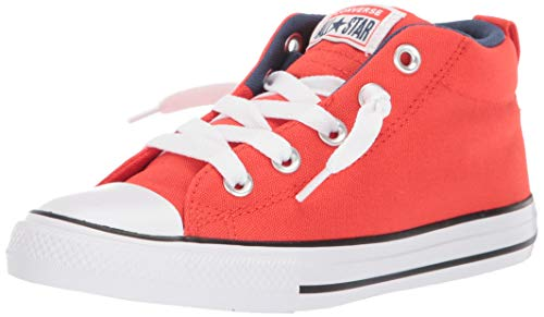 Converse Boys' Chuck Taylor All Star Street Moon Seasons Sneaker, Habanero Red/Navy/White, 5 M US Toddler (Orange Converse Sneakers)