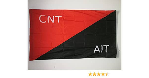 AZ FLAG Bandera de la MILICIA CONFEDERAL DE LA CNT-FAI 150x90cm ...