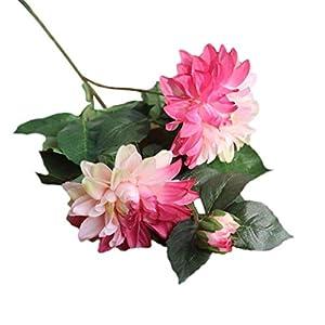 Jonerytime Artificial Silk Dahlia Fake Flower Wedding Bouquet Bridal Hydrangea Decor 31