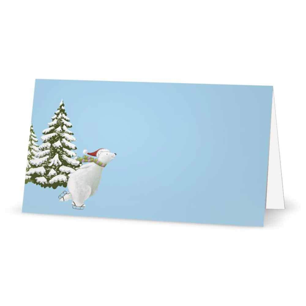 Table Placement Name Seating Stationery Party Supplies Occasion Dinner Label Christmas Polar Bear Place Cards 10 or 50 Packs 50 Tent Style