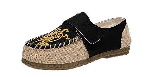 on Men's Flat Shoe Crown Tianrui Oxfords Espadrilles Slip Embroidery Loafer RXw7wq
