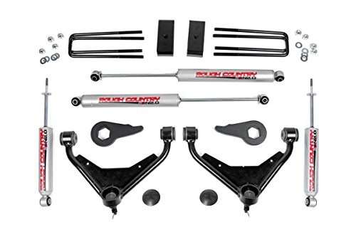N2 - 3-inch Bolt-On Suspension Lift Kit w/ Upper Control Arms w/ Premium N2.0 Shocks for Chevrolet: 01-04 Silverado 2500 4WD/2WD, 01-10 Silverado 2500 HD 4WD/2WD, 01-10 Suburban... (Rough Country 3 Lift)