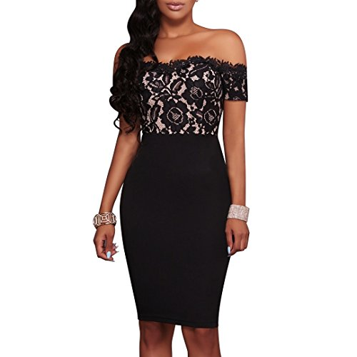 Womens Off Shoulder Cocktail Evening Party Dress - 1