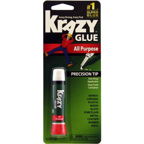 Krazy Glue KG58548R Instant Krazy Glue All Purpose Tube 0.07-Ounce by Krazy Glue