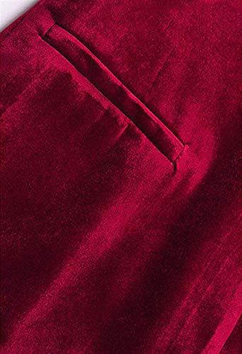 Outerwear Printemps Affaires Blazer Femme Doux Revers Fit Confortables Velours De Mode Jeune Manches Winered Automne Manche Uni Longues Slim Women Jacket Veste Office Costume qAwT1TX