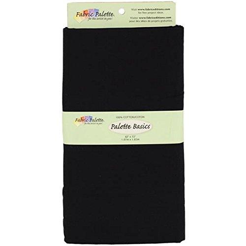 Fabric Editions 2-Yard Pre-Cut Fabric Palette, 42 by 72-Inch, Black