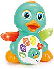 Musical Light Up Dancing Duck- Infant, Baby and Toddler Musical and Educational Toy for Boys and Girls
