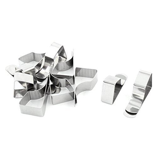 Nappe de Mariage eDealMax en Acier inoxydable Clip Table en Tissu Support 10 PCS