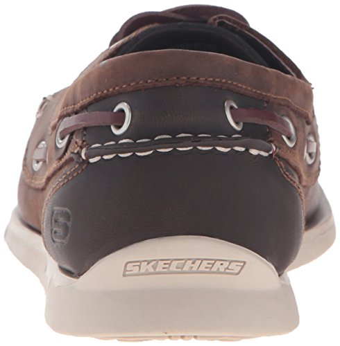 Skechers USA Uomo Eris Sebos Oxford, marrone scuro