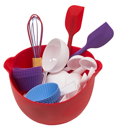 Kids Deluxe Baking Set - cupcakes, muffins and more - 26 pieces