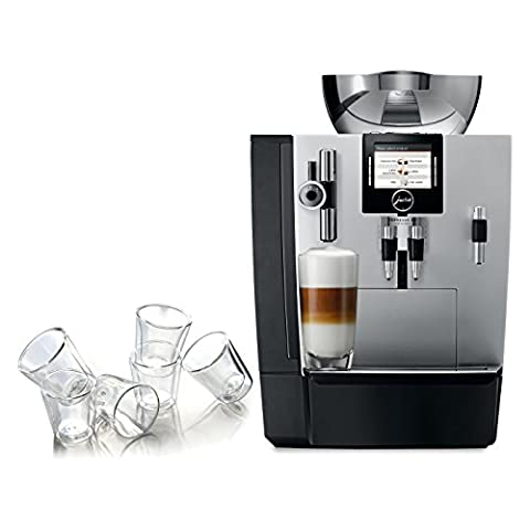 Jura Silver Impressa XJ9 Professional One-Touch Combination Espresso Machine with 6 Bodum Canteen Double Wall Espresso (Canteen Combo)
