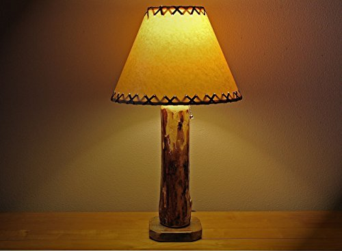 The Sawtooth Mountain Log Table Lamp w/12