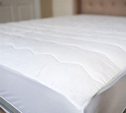 Beautyrest Cotton Top Mattress Pad Simmons Soft Cover Protector with Premium Fibers Expand-a-Grip Skirt Fits up to 15? (King)