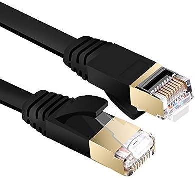 Cable Length: 20M, Color: Black Computer Cables Ethernet Cable Cat7 LAN Cable UTP RJ 45 Network Cable RJ45 Patch Cord 1m//2m//10m//15m//20m for Router Laptop PC Ethernet Connector