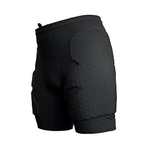 McDavid Compression Short with HexPad Thigh and Hip Protection (Black, Large) (Mcdavid Youth Hexpad 5 Pad)