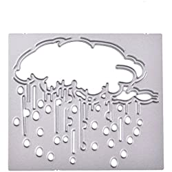 AKwell Cutting Stencils DIY Scrapbooking Pattern of Rainy Day for Making Album Decorative Album