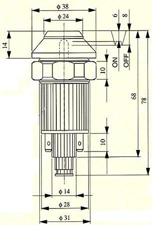 Wamo Druckschalter Scheibenwischermotor 12v Kontrolle Auto