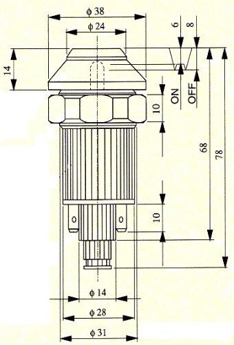 WAMO Druckschalter Heben und Senken 12V Kontrolle
