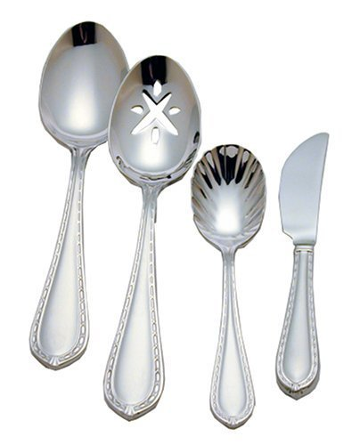 Waterford Ballet Ribbon 18/10 Stainless Steel 4-Piece Flatware Hostess Set by Reed & Barton