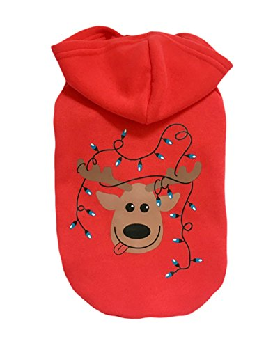 [Freerun Soft Warm Cotton Pet Dog Hoodie Coat Puppy Costume Clothes - Coffee, L] (Coffee Costumes Homemade)