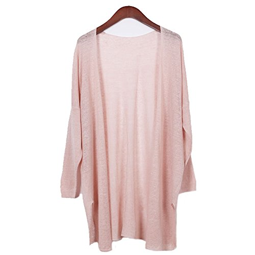 ront Long Sleeve Knitted Casual Linen Cardigan Sweater Regular Plus Size Pink (Hand Knitted Cardigans)