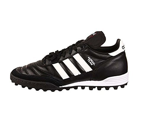 adidas Men's Mundial Team Soccer Shoes (Black, White - Size 9) (Indoor Soccer Turf)