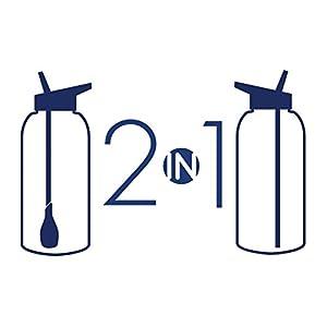 refresh2go 34oz Milestone Filtered Water Bottle - Purple