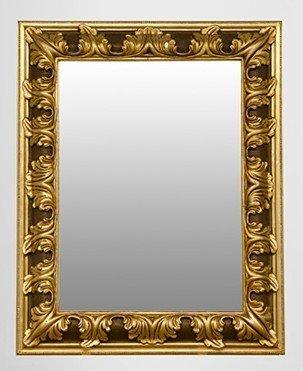 Pompöser Barock Spiegel Rechteckig Gold 157 x 124 cm