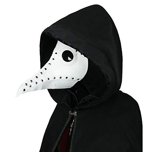 steelsir Punk Gothic Plague Long Beak Mask Doctor Masquerade Adult Mens Womens Cosplay Bird Beak Mask Halloween -