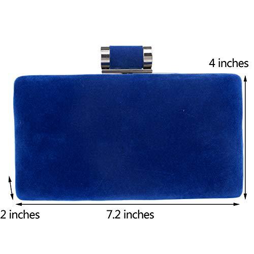 Clutches Chain Elegant Purse Handbags Blue Bags Wallet Womens For Party Evening SX4wqtaS
