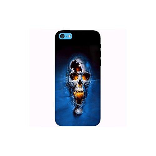Coque Apple Iphone 5c - Crâne fond bleu
