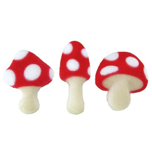Lucks Dec-Ons Decorations Molded Sugar/Cup-Cake Topper, Toadstool Assortment, 1 1/4 - 1 1/2 Inch, 120 Count by Lucks